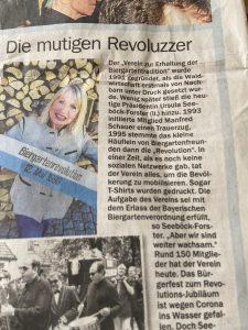 Presse zur Biergartenrevolution 1995